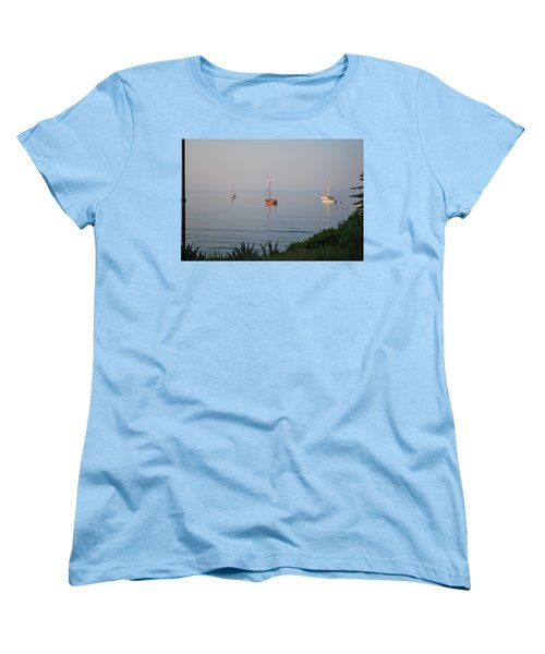Women's T-Shirt (Standard Cut) featuring the photograph Morning by George Katechis