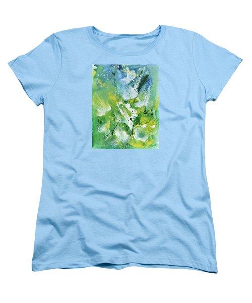 Women's T-Shirt (Standard Cut) featuring the painting Morning Hillside by Craig T Burgwardt
