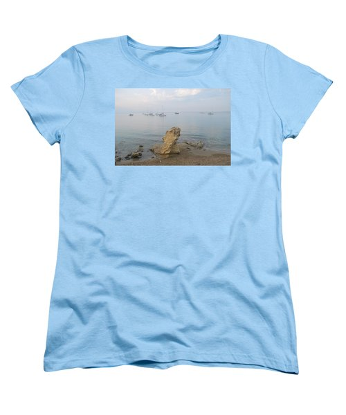 Women's T-Shirt (Standard Cut) featuring the photograph Morning Mist 2 by George Katechis
