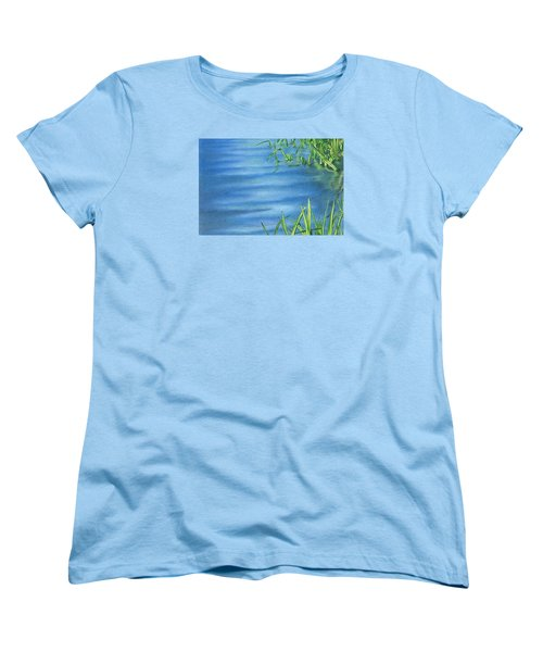 Morning On The Pond Women's T-Shirt (Standard Cut) by Troy Levesque
