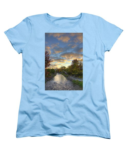 Morning Sky On The Fox River Women's T-Shirt (Standard Cut) by Daniel Sheldon