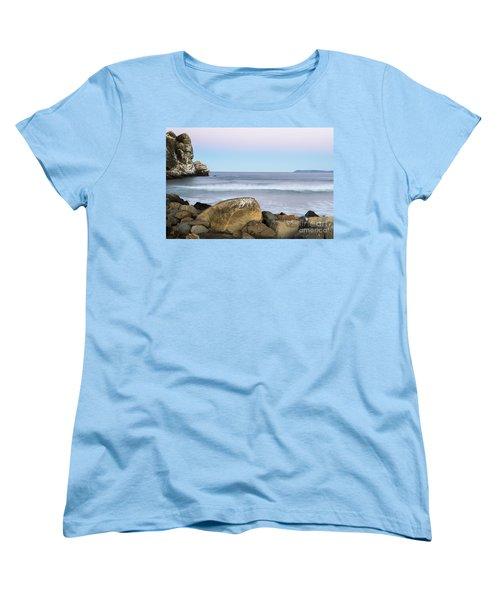 Morro Rock Morning Women's T-Shirt (Standard Cut) by Terry Garvin