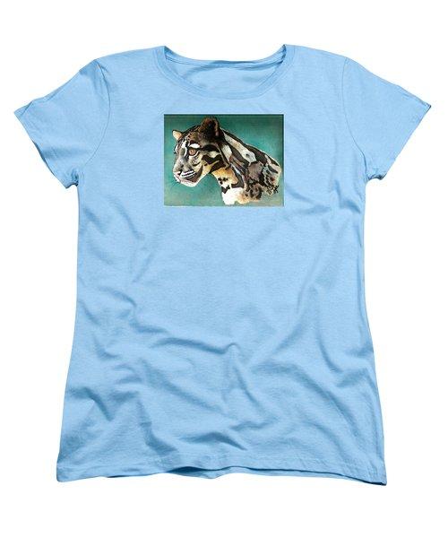 Most Elegant Leopard Women's T-Shirt (Standard Cut) by VLee Watson