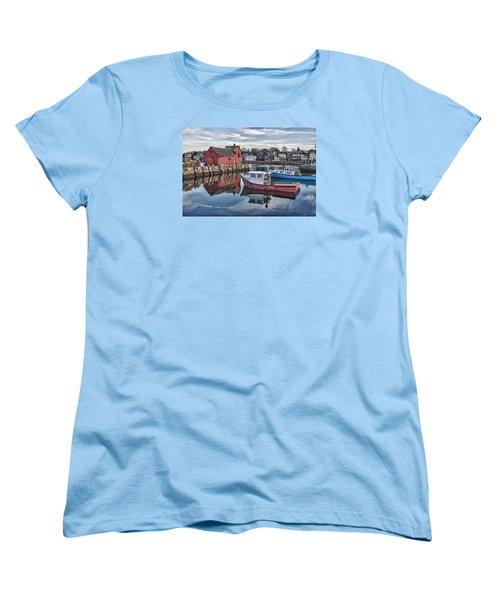Motif 1 Sky Reflections Women's T-Shirt (Standard Cut) by Jeff Folger
