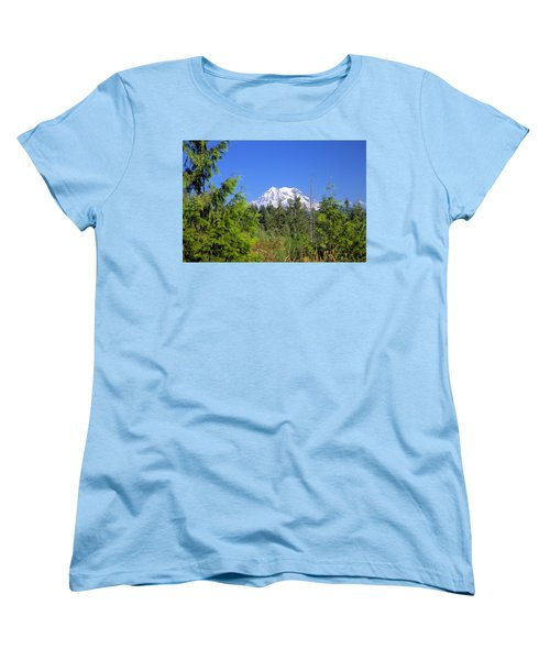 Women's T-Shirt (Standard Cut) featuring the photograph Mount Rainier by Gordon Elwell