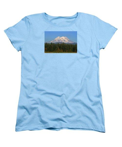 Mount Rainier Washington Women's T-Shirt (Standard Cut) by Tom Janca