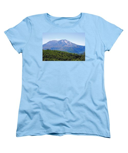 Mount St. Helens And Castle Lake In August Women's T-Shirt (Standard Cut) by Connie Fox