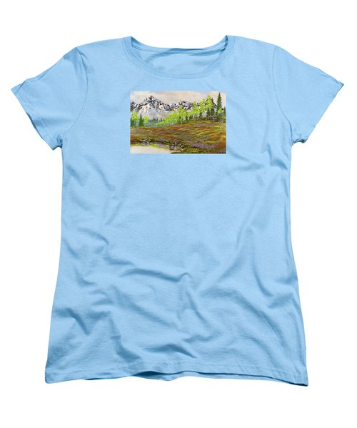 Mountain Meadow Women's T-Shirt (Standard Cut) by Jack Malloch