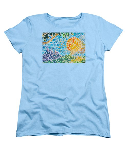 Women's T-Shirt (Standard Cut) featuring the painting Mountain Of God by Anthony Mwangi