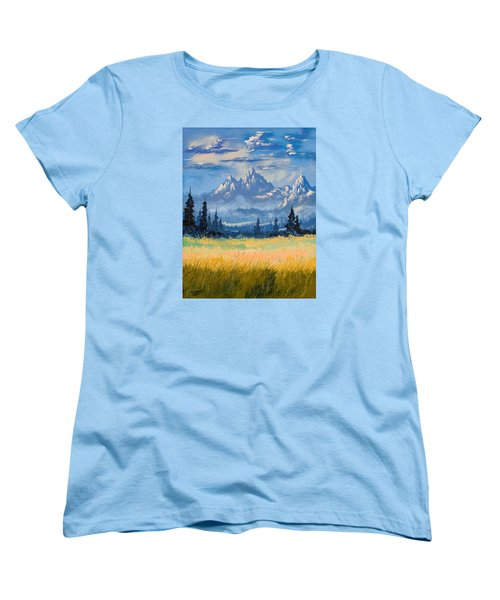 Mountain Valley Women's T-Shirt (Standard Cut) by Richard Faulkner