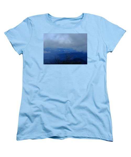 Mountains And Ice Women's T-Shirt (Standard Cut) by Daniel Reed