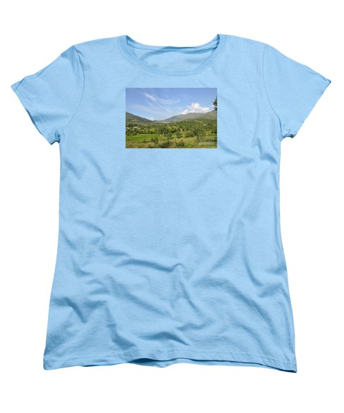 Women's T-Shirt (Standard Cut) featuring the photograph Mountains Sky And Clouds Swat Valley Pakistan by Imran Ahmed