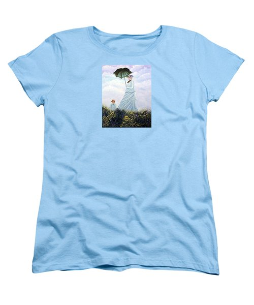 Women's T-Shirt (Standard Cut) featuring the painting Mrs. Monet And Son by Fran Brooks