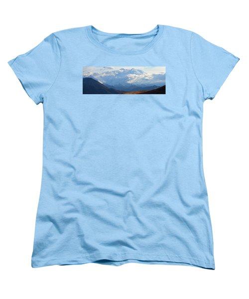 Women's T-Shirt (Standard Cut) featuring the photograph Mt. Denali by Ann Lauwers