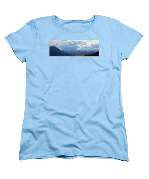Mt. Denali Women's T-Shirt (Standard Cut) by Ann Lauwers