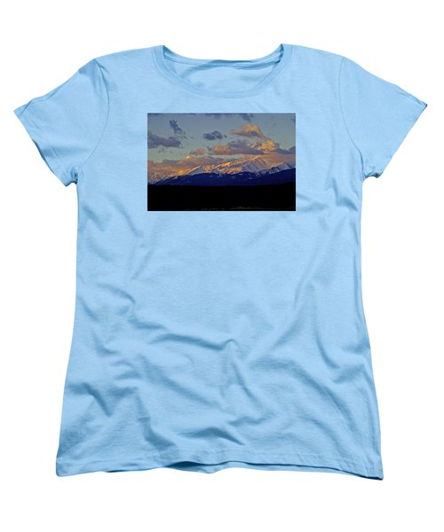 Mt Elbert Sunrise Women's T-Shirt (Standard Cut) by Jeremy Rhoades