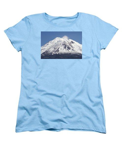 Mt Shasta California Women's T-Shirt (Standard Cut) by Tom Janca