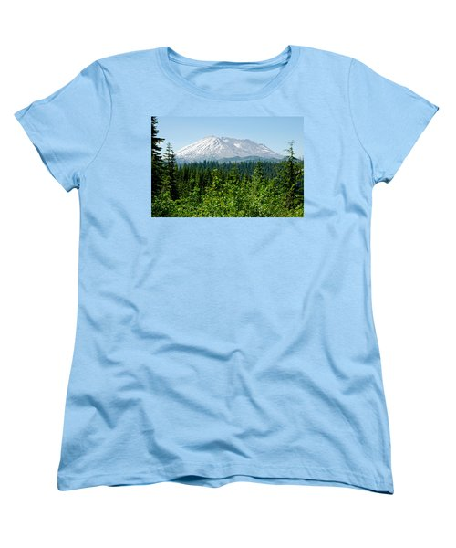 Mt. St. Hellens Women's T-Shirt (Standard Cut) by Tikvah's Hope
