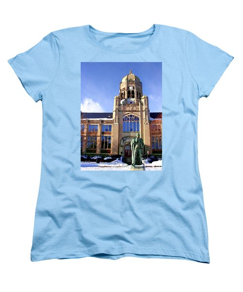Women's T-Shirt (Standard Cut) featuring the photograph Abstract - Haas Center by Jacqueline M Lewis