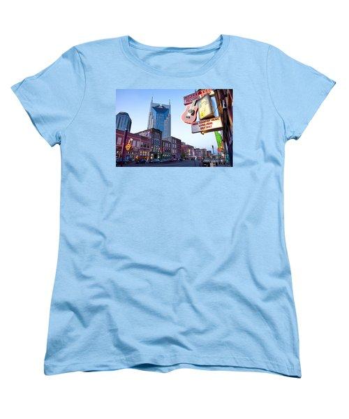 Music City Usa Women's T-Shirt (Standard Cut) by Brian Jannsen
