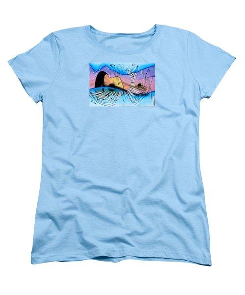 Musica Women's T-Shirt (Standard Cut) by Angel Ortiz