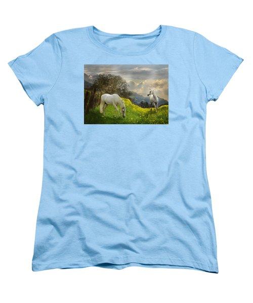 Mustard Reunion Women's T-Shirt (Standard Cut) by Melinda Hughes-Berland
