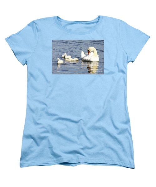 Women's T-Shirt (Standard Cut) featuring the photograph Mute Swans by Alyce Taylor