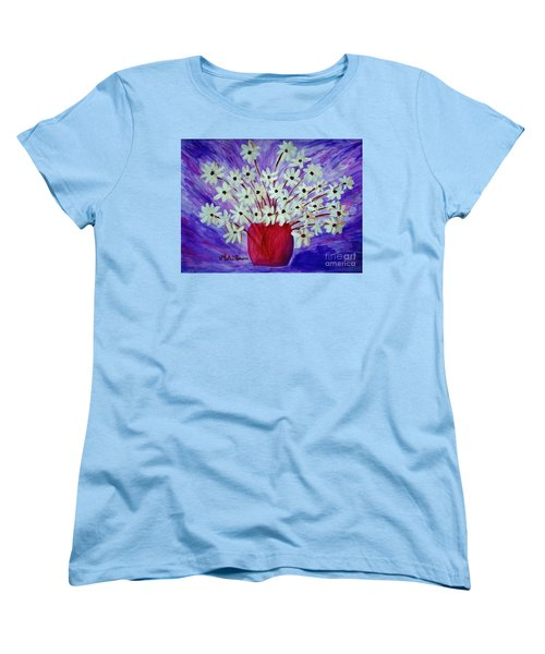 My Daisies Blue Version Women's T-Shirt (Standard Cut) by Ramona Matei