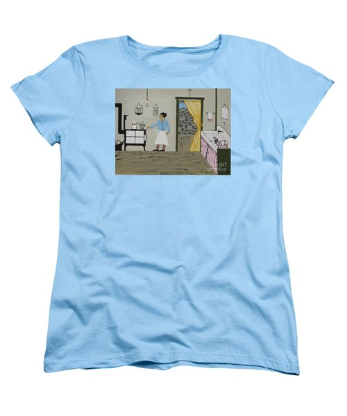 Women's T-Shirt (Standard Cut) featuring the painting Coal Miners Wife by Jeffrey Koss