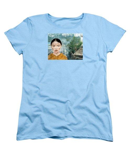 My Kuiama A Young Vietnamese Girl Version II Women's T-Shirt (Standard Cut) by Jim Fitzpatrick