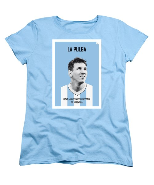 My Messi Soccer Legend Poster Women's T-Shirt (Standard Cut) by Chungkong Art