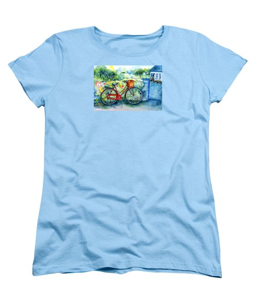 My Red Bicycle Women's T-Shirt (Standard Cut) by Trudi Doyle
