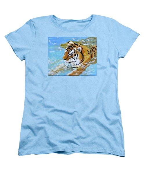 My Water Tiger Women's T-Shirt (Standard Cut) by Phyllis Kaltenbach