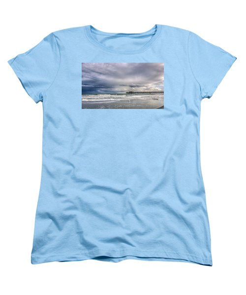 Myrtle Beach Fishing Pier Women's T-Shirt (Standard Cut) by Rob Sellers