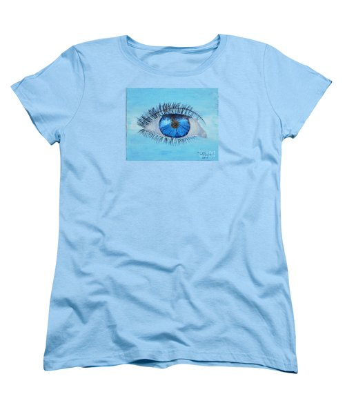 Women's T-Shirt (Standard Cut) featuring the painting Mystic Eye by Pamela  Meredith