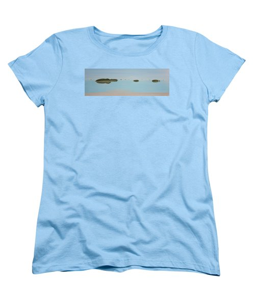 Women's T-Shirt (Standard Cut) featuring the painting Mystical Islands by Tim Mullaney
