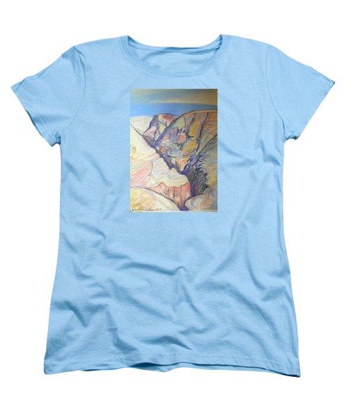 Women's T-Shirt (Standard Cut) featuring the drawing Nachal Darga Canyon by Esther Newman-Cohen