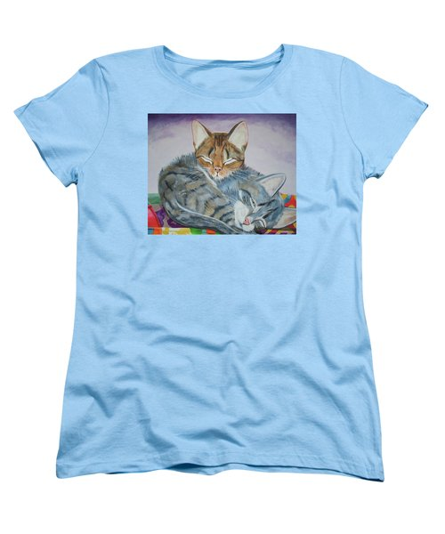 Women's T-Shirt (Standard Cut) featuring the painting Nap Time by Thomas J Herring