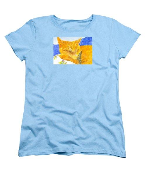 Nappy Cat Women's T-Shirt (Standard Cut) by Anne Marie Brown