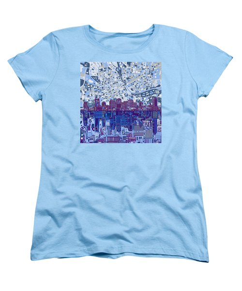Nashville Skyline Abstract 8 Women's T-Shirt (Standard Cut) by Bekim Art