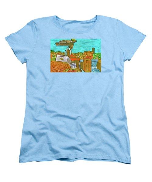 Nassau Fruit Seller Women's T-Shirt (Standard Cut) by Frank Hunter