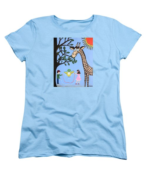 Women's T-Shirt (Standard Cut) featuring the painting Nature's Playground by Kathleen Sartoris
