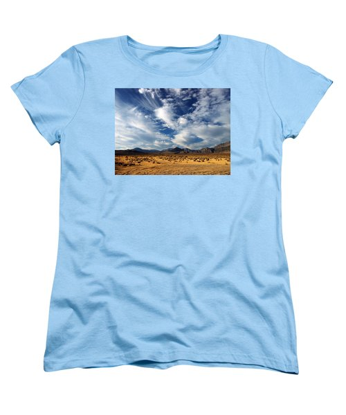 Near The Intersection Of God And The Eastern Sierras Women's T-Shirt (Standard Cut) by Joe Schofield