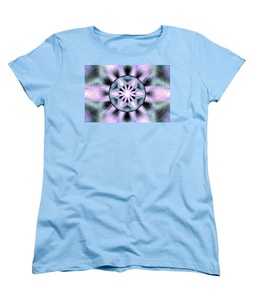 Women's T-Shirt (Standard Cut) featuring the drawing Neo Liquid Sky by Derek Gedney