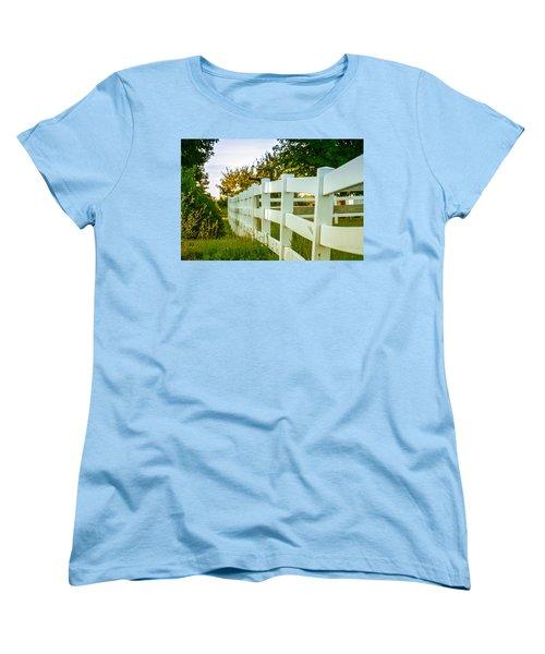 New England Fenceline Women's T-Shirt (Standard Cut) by Brian Caldwell