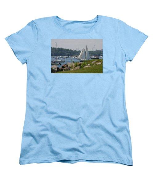 New England Seascape Women's T-Shirt (Standard Cut) by Denyse Duhaime