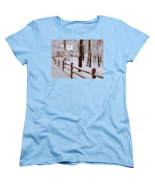 New England Winter Women's T-Shirt (Standard Cut) by Dianne Cowen