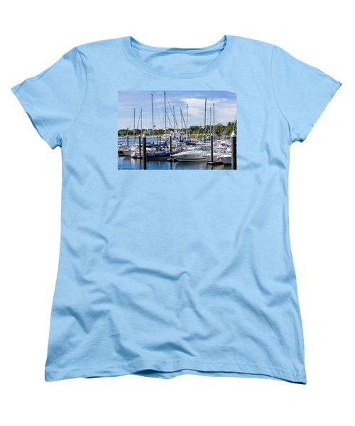 New Hampshire Marina Women's T-Shirt (Standard Cut) by Fred Larson