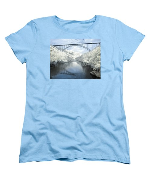 New River Gorge Bridge In Infrared Women's T-Shirt (Standard Cut) by Mary Almond