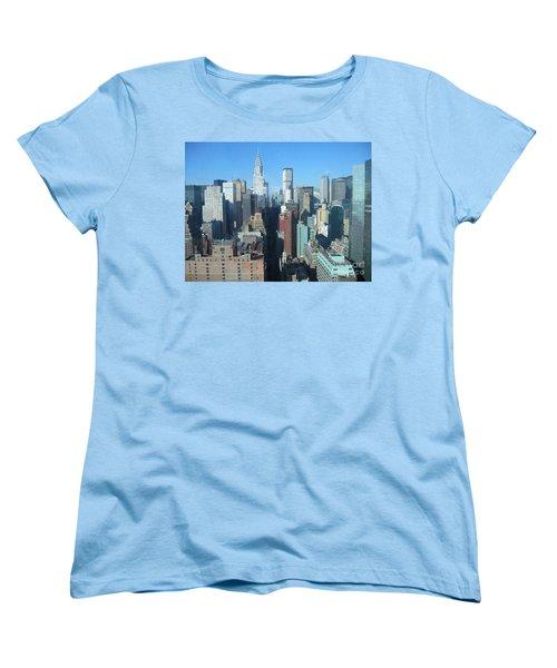 Women's T-Shirt (Standard Cut) featuring the photograph New York City Skyline by Dora Sofia Caputo Photographic Art and Design